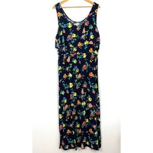 Merona Women Maxi Dress Size XXL Sleeveless Floral
